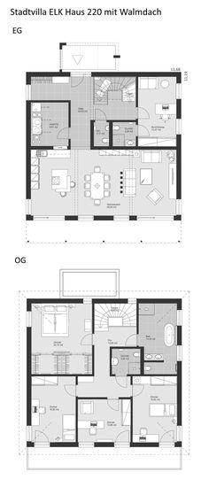 260 besten grundriss einfamilienhaus bilder auf pinterest. Black Bedroom Furniture Sets. Home Design Ideas