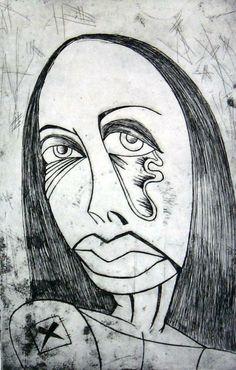 Girl-etching