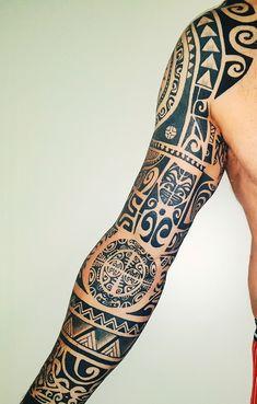 maori tattoo designs Simple is part of Unique Maori Tribal Tattoo Designs Tattooeasily Com - Polynesian tribal sleeve tattoo ink Maori Tattoos, Maori Tattoo Meanings, Tribal Sleeve Tattoos, Marquesan Tattoos, Irezumi Tattoos, Bad Tattoos, Best Sleeve Tattoos, Body Art Tattoos, Tattoos For Guys