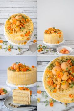 apricot pistachio cake from hungry rabbit. apricot cake, apricot glaze, apricot and pistachio buttercreams, apricots and pistachios