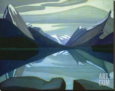 Quality print by Group Of Seven artist Lawren Harris - Maligne Lake Jasper Park; Available framed, print, poster, giclee canvas. Made In Canada. Tom Thomson, Emily Carr, Group Of Seven Artists, Group Of Seven Paintings, Jasper Park, Canadian Painters, Canadian Artists, Landscape Art, Landscape Paintings