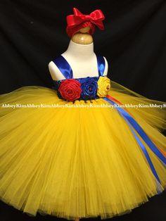Snow White tutu dress por Abbeykim1 en Etsy