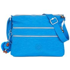 Kipling Handbags, Alvar Crossbody Bag ($79) ❤ liked on Polyvore featuring bags, handbags, shoulder bags, french blue, crossbody handbags, purse shoulder bag, handbags & purses, blue shoulder handbags and handbags crossbody