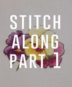 Primrose botanical embroidery: freebie & tutorial - Stitch Floral