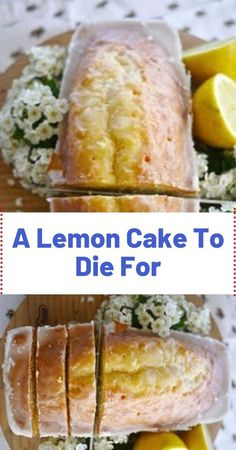 Lemon Cake To Die For You'll Need (for the cake): 1 box of yellow cake mix. 1 small box of instant lemon pudding mix. ¾ cup of oil. ¾ cup of water. You'll Need (for the glaze): 2 cups Lemon Desserts, Lemon Recipes, Cake Recipes, Dessert Recipes, Lemon Cakes, Savoury Cake, Sweet Bread, Clean Eating Snacks, Pain