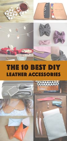 It's the perfect DIY material – durable, long lasting and it just gets better with age. DIY leather accessories are just what you need to make your style stand out.