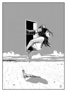 © Alexander Grahovsky   Arte pork-chop   Ilustración   Cóctel Demente