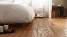 Bamboo Floor Flexible and original alternative to floor covering Available on roll and tiles Durable and finely priced Inspiration BVO Flooring Bamboo Wood Flooring, Cork Flooring, Dream House Interior, Bedroom Flooring, Home And Deco, Cozy House, Home Bedroom, Interior Inspiration, Living Spaces