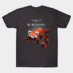 Red Panda Day T-Shirt - Animal T-Shirt is $14 today at TeePublic!
