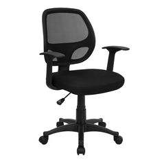 AmazonSmile: MidBack Black Mesh Swivel Task Chair: Kitchen & Dining