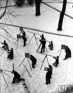 Alfred Eisenstaedt: Asronomy Class (1940)