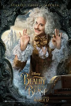 Looking for some amazing posters from your favorite Disney movie Beauty and the Beast?Then check out our awesome Beauty and the Beast poster collection. Stanley Tucci, Beauty Beast 2017, Beauty And The Beast Movie, Dan Stevens, 3d Kino, Walt Disney, Disney Live, Disney Art, Motion Poster