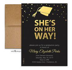 Graduation Party Invitation. Graduation Announcement.