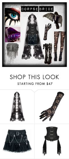 """""""Corpse bride"""" by toxicjooker666 on Polyvore featuring Dolce&Gabbana, Chanel and Evil Twin"""