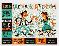Poster for music festival, Atiende Alicante! Alicante, Retro Illustration, Design Elements, Behance, Music, Poster, Concert, Illustrations, Elements Of Design