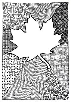 Zentangle #97 - Maple-leaf Card | Flickr - Photo Sharing!