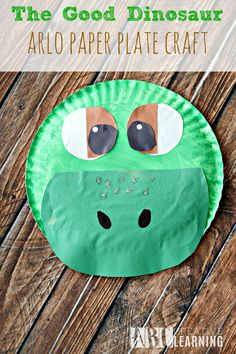 The Good Dinosaur Arlo Paper Plate Craft is perfect for the kiddos to celebrate the new Disney Pixar movie! - abccreativelearning.com
