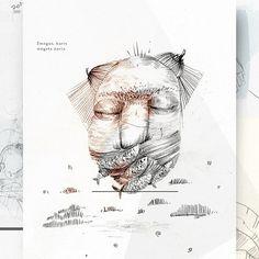 "46 Likes, 2 Comments - Eglė Uleckienė (@egleillustration) on Instagram: ""Daily Sketch Challenge*59-Man Who Really Loves Fishes. #illustrationartists #illustration…"""