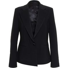 3.1 Phillip Lim Classic Tuxedo Jacket ($860) ❤ liked on Polyvore featuring outerwear, jackets, blazers, tuxedo jacket, blazer jacket, one button tuxedo jacket, one button jacket and tux jacket