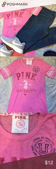 Sheer VS PINK tshirt size extra small Sheer VS PINK tshirt size extra small PINK Victoria's Secret Tops Tees - Short Sleeve