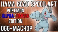 Hama Bead Speed Art   Pokemon   Alpha/Omega   Timelapse   066 - Machop