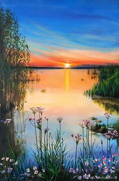 """Landscape Oil painting on canvas - """"Not . - Buy Landscape Oil painting on canvas – """"Not … oil the -Buy Landscape Oil painting on canvas - """"Not . - Buy Landscape Oil painting on canvas – """"Not … oil the - Scenery Paintings, Nature Paintings, Paintings Famous, Bob Ross Paintings, Indian Paintings, Oil Painting Flowers, Oil Painting On Canvas, Painting Tips, Lake Painting"""
