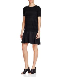 Timo Weiland Christie Knit Combo T-Shirt Dress