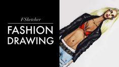 LEATHER MOTORBIKE JACKET | Fashion Drawing