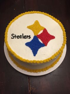 Steelers cake for my little brothers birthday Sweets Pinterest