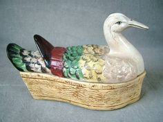 Staffordshire duck tureen & cover... gosh would I love to have this!!