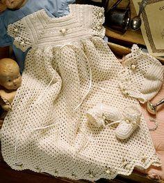 Spider Edge Crochet Christening Set ePattern