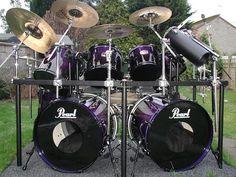 Pearl Elx Black Burst 10 Peice Kit