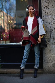 Street style model off duty