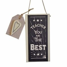 East of India Teacher You Are The Best Wall Plaque
