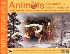 """La Compagnie médiévale. Hervé Berteaux. Contes et merveilles. """"Animots, des animaux qui ont la parole"""", contes, légendes, miracles, traditions et musiques des temps de Noé"""