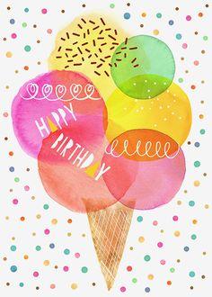 Margaret Berg Art: Happy+Birthday+Scoops