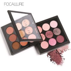 FOCALLURE 9 Colors Eyeshadow Palette Makeup Eyeshadow Palette Matte and Shimmer Smoky Eye Shadow Palette