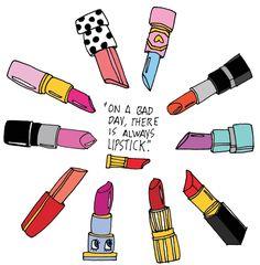 Maravillosa ilustración Lipstick, ilustrado y coloreado por su artista original…
