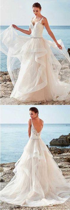 Wedding Dresses 2018 #WeddingDresses2018, Wedding Dresses A-Line #WeddingDressesA-Line
