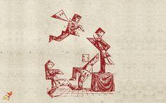 Quirky puzzles, anyone? Tangram painting at The Flying Monk, Kolkata