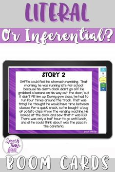 Looking for more ways to build understanding of literal and inferential questions in speech and language therapy? These no print, no prep, digital task cards are fun, interactive, and perfect for working on critical thinking and comprehension skills at the story level! Your students will be begging for more!