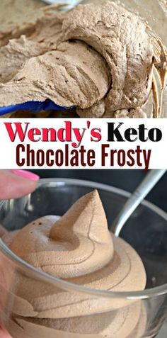 Craving a cool chocolate keto dessert treat? Our keto Wendy's Chocolate Frosty will satisfy any sweet tooth with only a few ingredients! Desserts Keto, Desserts Sains, Keto Snacks, Dessert Recipes, Recipes Dinner, Easy Keto Dessert, Keto Sweet Snacks, Keto Desert Recipes, Keto Foods