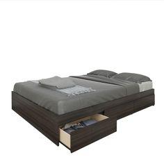 New Item Nexera 225430 Atom 54 in. Reversible Storage Bed 3 Drawers Home Bedroom Furniture