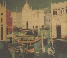 E. Besozzi pittore s.d. (1970) Venezia acrilico su tela cm. 70x80 arc. 962