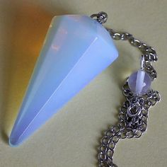Opalite large dowsing pendulum on chain