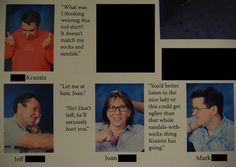 I wish teachers had a sense of humor for the yearbook