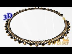 Beaded Necklace with Seed&Bugle Beads. 3D Beading Tutorial - YouTube