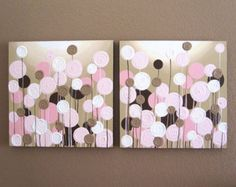 Pink Blue and Gray Textured Modern Nursery by MurrayDesignShop