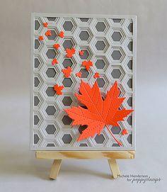 Birch Press Design Honeybee Layers A, B & C dies BG + Poppystamps Leafy Breeze + Majestic Maple card by Michele Henderson