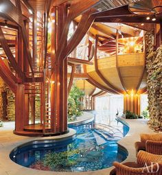 I wanted to show you how I have already lost 24 pounds from a new natural weight loss product and want others to benefit aswell. - Indoor pool and organic architecture by Bart Prince. Indoor pool and organic architecture by Bart Prince. Future House, My House, Organic Architecture, Architecture Design, Beautiful Architecture, Installation Architecture, Pavilion Architecture, Residential Architecture, Contemporary Architecture